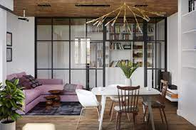 A dining and living room in 4 bedrooms