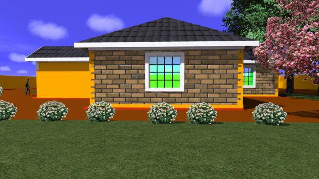 3 bedroom exterior finishing