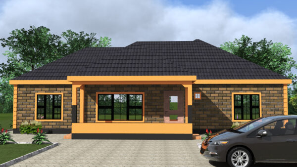 3 bedrooms house design