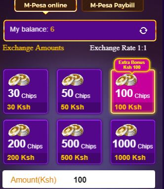 amount to top up